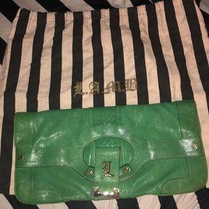 L.A.M.B Green Leather Clutch